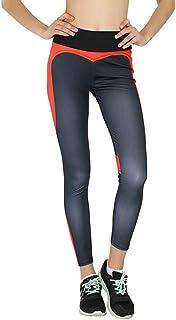 KJGFGHK Pantaloni Fitness Yoga, Collant Sportivi, Mutande da Donna, 5041 Nero Rosso, S
