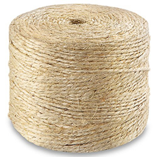 CWC Sisal Tying Twine - 2 Ply, 290 lbs Tensile (Pack of 6 rolls) by Continental Western Corporation