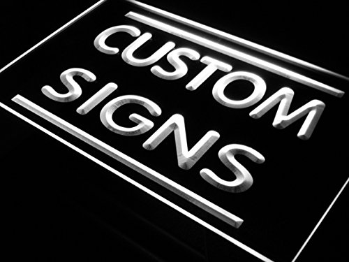 tm ADV PRO Custom Signs/Neon Signs/LED Signs/Edge Lit Signs/Your Own Design (400x300mm, White)
