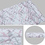 SimpleLife4U Granite Look Marble Effect Contact Paper Removable Shelf Liner Kitchen Countertop Sticker 17x118 Inches