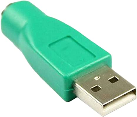 PS2 Female to Male USB Adapter into Converter to use for PC Keyboard Mouse