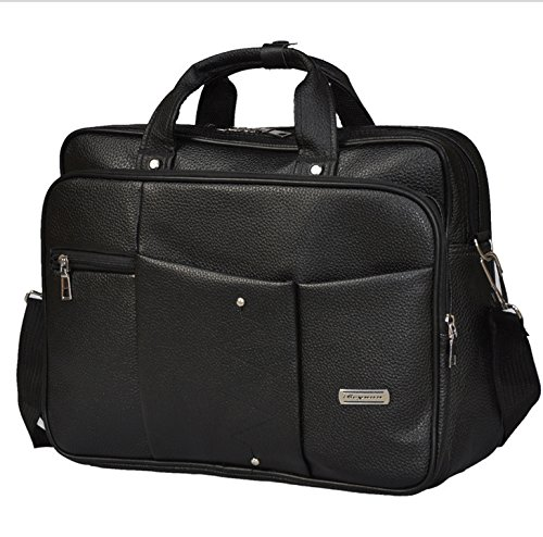 - 15.6 inch Travel PU Leather Laptop Carrying Messenger Shoulder Bag Briefcase Sleeve Case for Dell XPS 15 / XPS 15 2-in-1 / Precision 5520/3520 / 7520/3530 / Inspiron 15 5000/7000 / 3000 / G5 15