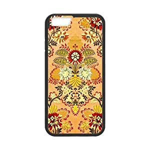 iPhone 6 Protective Case - Vintage Floral Hardshell Cell Phone Cover Case for New iPhone 6 by runtopwell