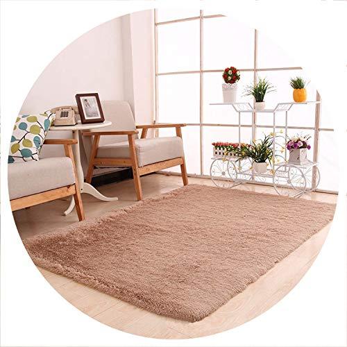 world-palm 160x200cm Carpet Large Size Soft Carpets for Living Room Anti-Slip Floor Mats Bedroom Water Absorption Carpet tapetes para casa,Khaki Carpet,40x60cm