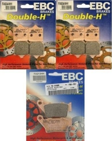 EBC Double H Front + Rear Brake Pads (3 Sets) 2009-2015 BMW S1000RR / FA604/4HH + FA213HH by EBC Brakes
