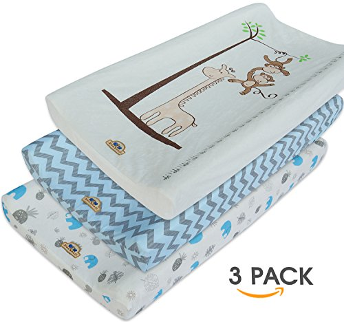 Ultra Soft and Comfty Changing Pad Cover 3pk by BlueSnail (blue set)