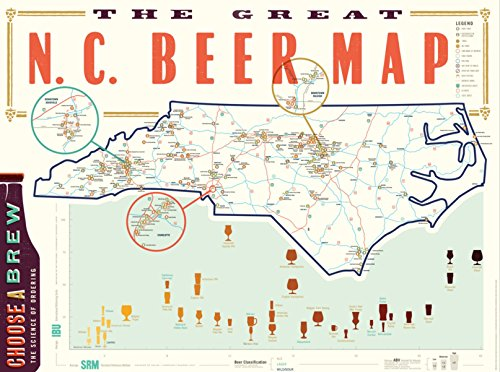 Great Nc Beer Map Poster