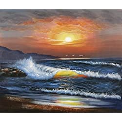 The Perfect Effect Canvas Of Oil Painting 'Charming Sunset Seascape' ,size: 30x35 Inch / 76x90 Cm ,this Replica Art DecorativeCanvas Prints Is Fit For Foyer Decor And Home Artwork And Gifts