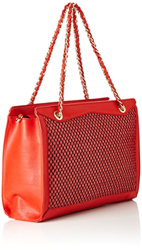 Trussardi 75bm0053, Portafoglio Donna, Rosso, 35 x 24 x 15 cm (W x H x L)