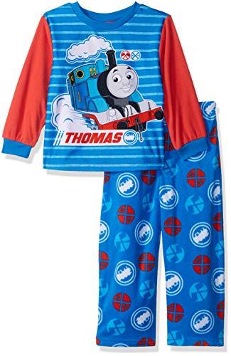 Thomas The Train Boys' Toddler Friends 2-Piece Fleece Pajama Set, no. Blue, 4T -