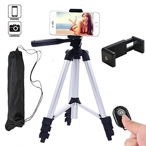 Hi Tec Aluminum Camera Cell Phone Tripod For Iphone Portable Camera Tripod   Phone Tripod Adapter   Bluetooth Remote Control Shutter For Smartphone