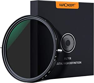 K&F Concept 77mm Variable Fader ND2-ND32 ND Filter and CPL Circular Polarizing Filter 2 in 1 for Camera Lens No X Spot Weather Sealed