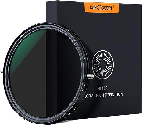 K&F Concept - 2 en 1 Filtro Polarizador y Filtro Densidad Neutra Ajustable 72mm Slim ND2-ND32 MRC para Cámara Lente NO X Spot con Funda: Amazon.es: Electrónica