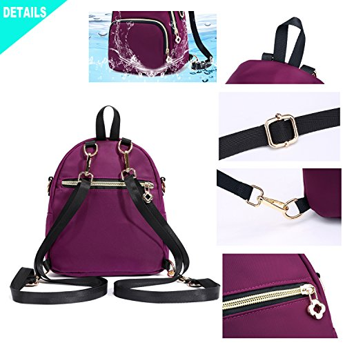Multifunctional Bag Hozee Backpack Cross Waterproof Nylon for Backpack Mini 1 Women Body Small Pink Purse STwzwqa