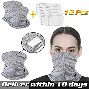 Half Face Mouth Mask filter Bandana for Dust Riding Protection Neck Gaiter Magic Cover Sun UV Scarf Wind balaclava Headwear for Men Women Fishing Hiking Motorcycle Cycling and Other Outdoor Activities