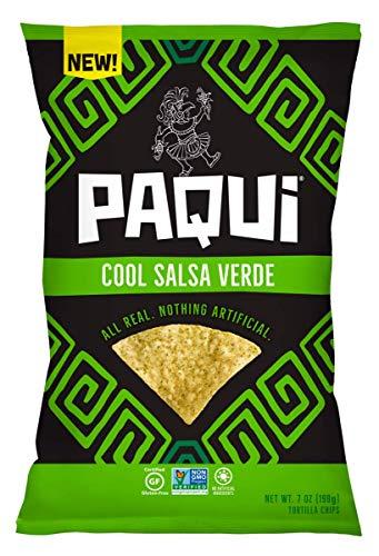 Paqui Tortilla Chips, Gluten Free Snacks, Non-Gmo, Cool Salsa Verde, 7.0oz (Pack Of 5) (Best Salsa For Chips)