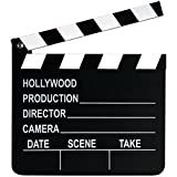 Beistle 50715 Movie Set Clapboard. This working clapboard is made of wood and can be written on with chalk. It includes 1 piece of chalk. The clapboard measures 8 inches tall by 7 inches wide. Use this Movie Set Clapboard as a prop for an Awards them...