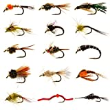 Manefish Nymph Flies Army - 15 Essential Nymph Flies Perfect for Trout, Bass and Bluegill