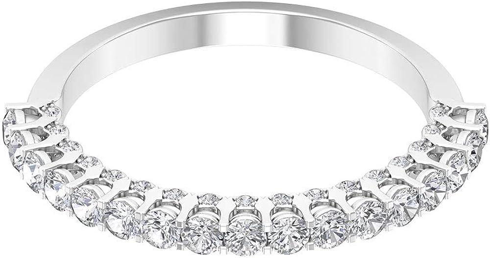 Anillo de boda con diamantes de 0,62 quilates, clásico para mujer, anillo de declaración, certificado SGL, anillo de eternidad, 10K Oro