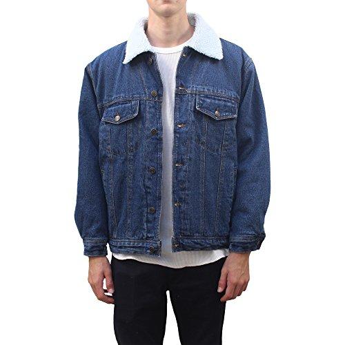 Oscar Mens Corduroy Sherpa Lining Jacket (X-Large, Stonewash)