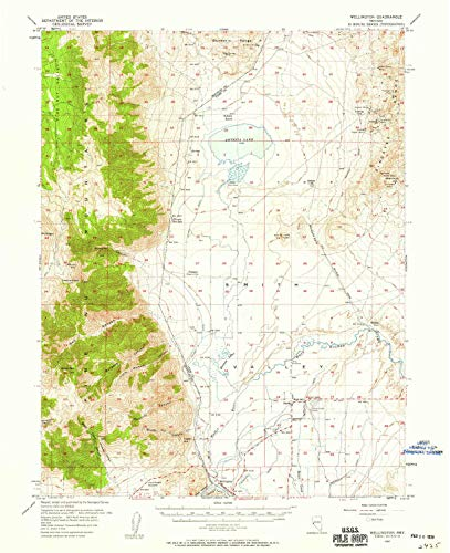- Wellington NV topo map, 1:62500 Scale, 15 X 15 Minute, Historical, 1957, Updated 1959, 20.8 x 16.9 in - Paper