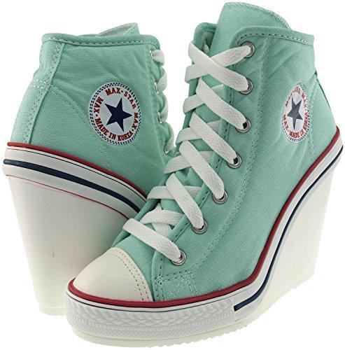 Canvas Shoes Mint 777 Maxstar Zipper Wedge Heels Side SZqwwt