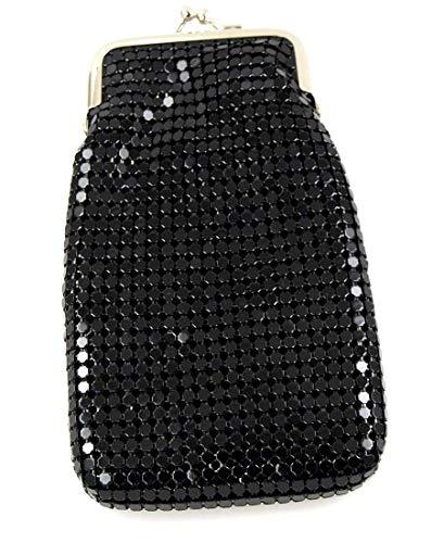 (Black Vintage Luxuriant Soft Metallic Mesh (Full Pack 100s) Womens Cigarette & Lighter Purse)
