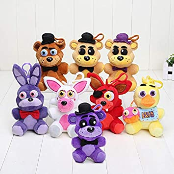 8pcs / Lot Cinco Noches en el Juguete de Freddy FNAF Bonnie ...