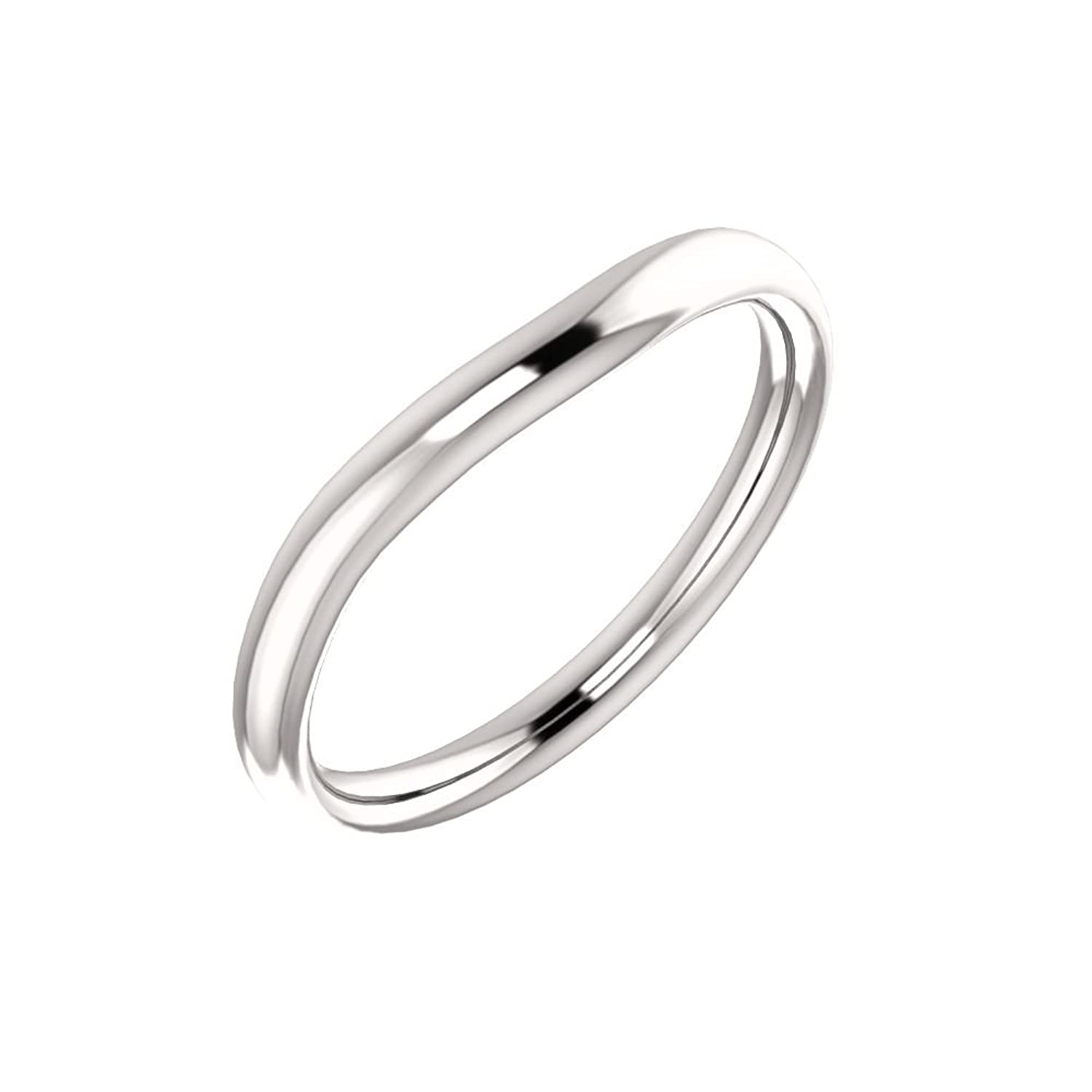 STU001- 18K White Band for 5x5mm Asscher Ring - Click Image to Close
