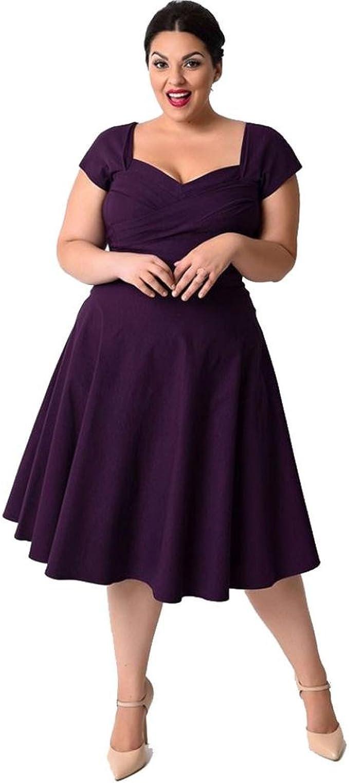 OVERMAL Große Größen Damen Kleider Damen Kleider Festlich Damen Kleider  Lang Kleid Damen Elegant Damen Kleider Elegant Große Größen Kleider Große