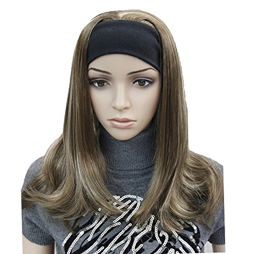 (Lydell Long Straight Wave Headband Synthetic Wigs (12TT26 Brown Highlighted) )