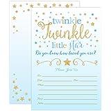 Boy Twinkle Twinkle Little Star Baby Shower Invitations...