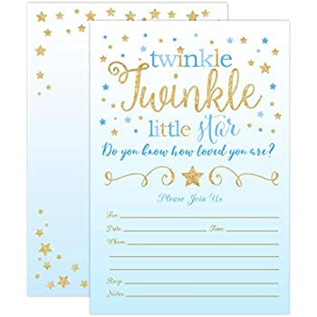 Boy Twinkle Twinkle Little Star Baby Shower Invitations ae2d6b68f0