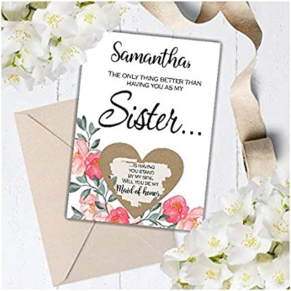 Soon You Will Be My Sister Card Cactus Bridesmaid Card - FPS0065 Sister Card Will You Be My Bridesmaid Card Bridesmaid Proposal Card