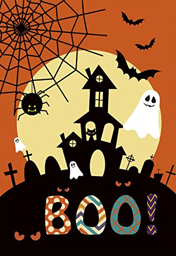 Morigins Spooky Manor Decorative Halloween Fall Double Sided House Flag 28