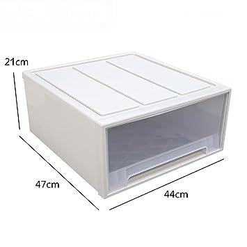 Überlagerte transparente Unterwäsche-Schublade Lagerschränke ...