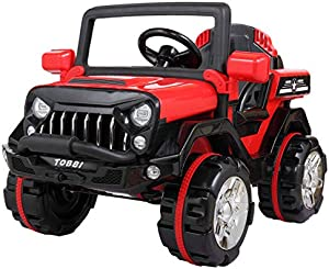 BWM.Co Kids 12V Electric Powered Truck Ride On SUV w/ RC Indoor Outdoor Driving Toy Vehicle Red