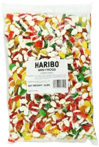 Haribo Gummy Candy, Mini Frogs, 5-Pound Bag ()