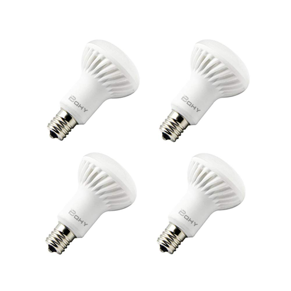 BQHY 4パック 中形口金 E17 調光可能 R14 LED電球 5ワット 昼光色 6,000K 40Wの白熱灯 フラッドライト電球 交換用 led R14  ウォームホワイト B071ZS7DW3