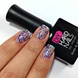 Glitter Gel – Galaxy Twilight– Soak Off Gel Nail Polish Topper - Requires UV or LED Nail Lamp – BONUS Downloadable at Home Gel Nail Guide Included