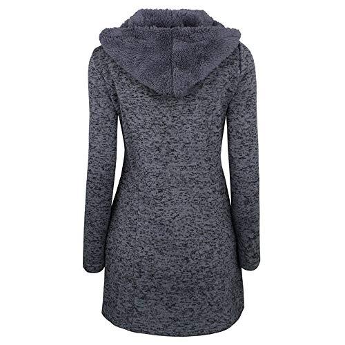 Tjoirej Donna Nero Outwear Inverno Cappotti Caldo Da L Cappotto fqwUx76Ff