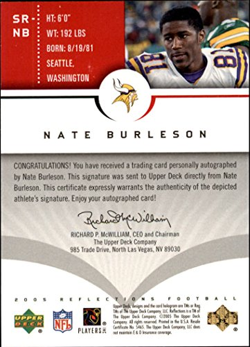 - 2005 Reflections Signature Reflections Red #SRNB Nate Burleson SP AUTO