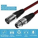 XLR Cable 50ft Male to Female, Furui Microphone XLR Cable 3 Pin Nylon Braided Balanced XLR Cable Mic DMX Cable Patch Cords with Oxygen-Free Copper Conductors