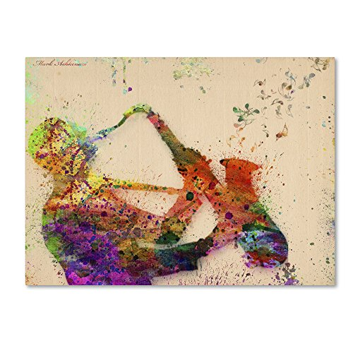 Saxophone by Mark Ashkenazi Wall Decor, 24 by 32