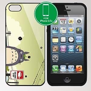 My Neighbor Totoro Apple iPhone 5 5S Soft Black or White case (#8 Black)