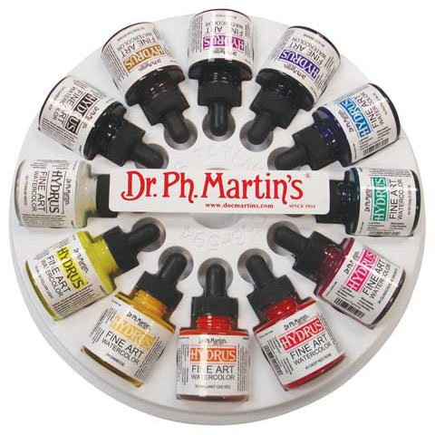 Dr. Ph. Martin's - Hydrus Fine Art Watercolor Set - 12-Color 1 oz. Set 2 by Dr. Ph. Martin's