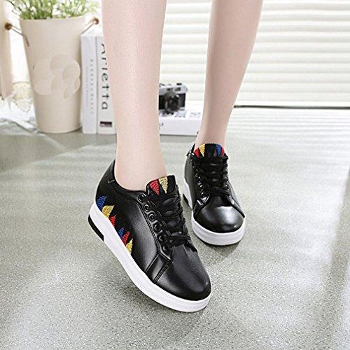 Scarpe Sneakers Alte Giy Da Donna Con Tacco Alto E Zeppa Nascoste Con Tacco Invisibile