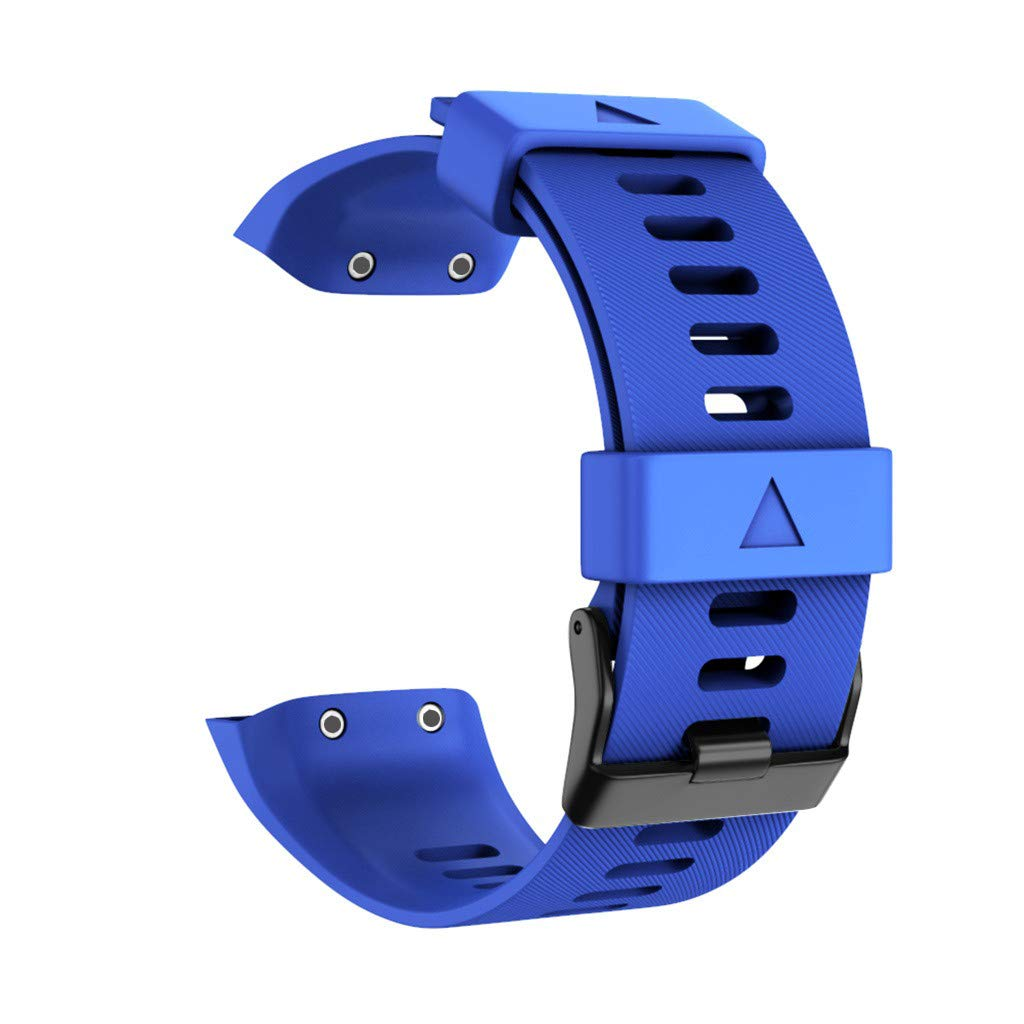 squarex einfach zu ersetzen Mode ersatz Mode schwarz Schnalle Sport silikon ersatz Armband gurtband f/ür Garmin Forerunner 35