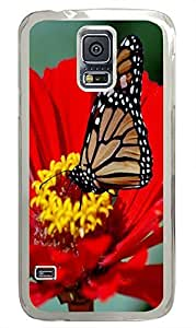 Samsung S5 cases silicone Flower Butterflys PC Transparent Custom Samsung Galaxy S5 Case Cover