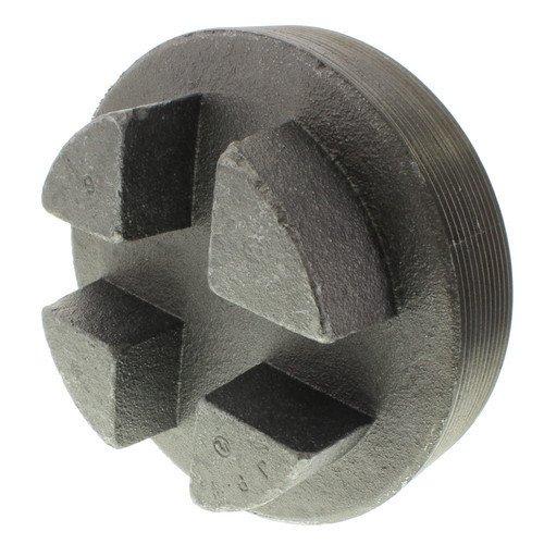 5 inch Black Regular Cored Plug (Bar Head)